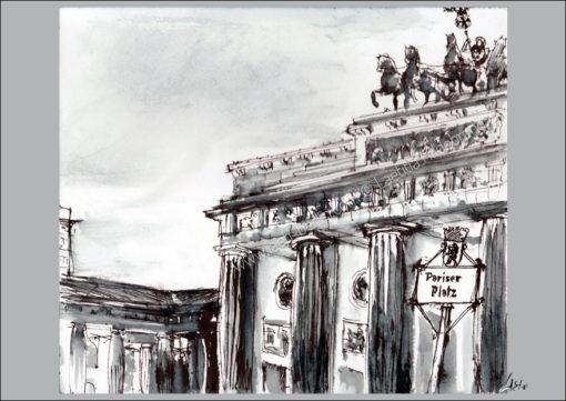 Postcard Pariser Platz Laeti-Berlin, recto