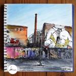 "Urban Sketch "" Cuvrystr."" (Berlin-Kreuzberg), Sketch Book- 10/03/10 © Laetitia Hildebrand"