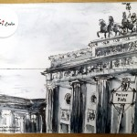 "Urban Sketch ""Pariser Platz"" (Berlin-Mitte), Sketch Book- 09/09/2009 © Laetitia Hildebrand"