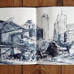 Urban Sketch Potsdamer Platz (Berlin- Mitte/Tiergarten), Sketch Book- 12/09/09 © Laetitia Hildebrand
