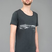 T-Shirt Tempelhofer Park Bamboo Wide neck grey