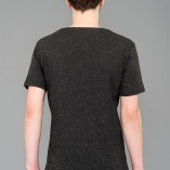 Back- T-shirt Speckled Black Laeti-Berlin