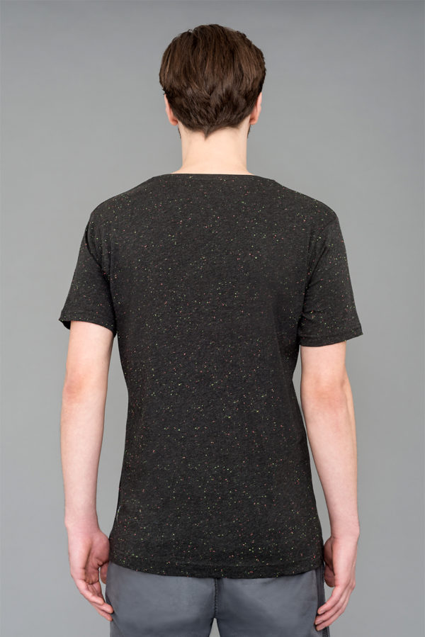 Back- T-shirt Speckled Black Laeti-Berlin