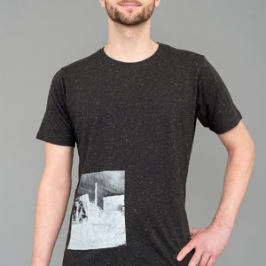 T-shirt Cuvrystr. – Speckled black- Man
