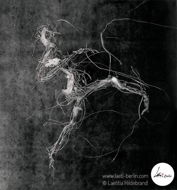 Electric Dancer-Monotype-engraving-2008-Laetitia Hildebrand