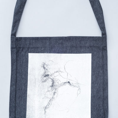 tote sling bag recycled electric dancer grey Laeti-Berlin