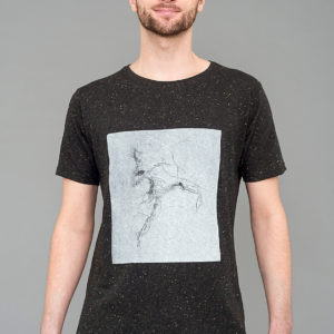 T-shirt Electric Dancer Speckled Black Laeti-Berlin