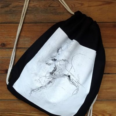 Gym Bag Black Laeti-Berlin, ‎Electric Dancer, ‎bio & ‎fairtrade textil