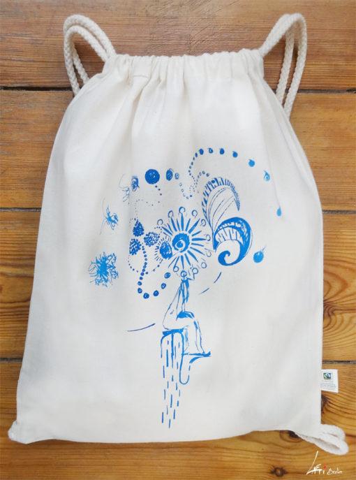 Gym Bag Natural Laeti-Berlin, Emotions, bio & fair trade textil