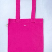 verso- Tote bag colored Cuvrystr. hot pink Laeti-Berlin