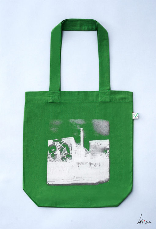 Tote bag colored Cuvrystr. leaf green Laeti-Berlin