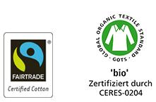 Logos Fair trade and bio