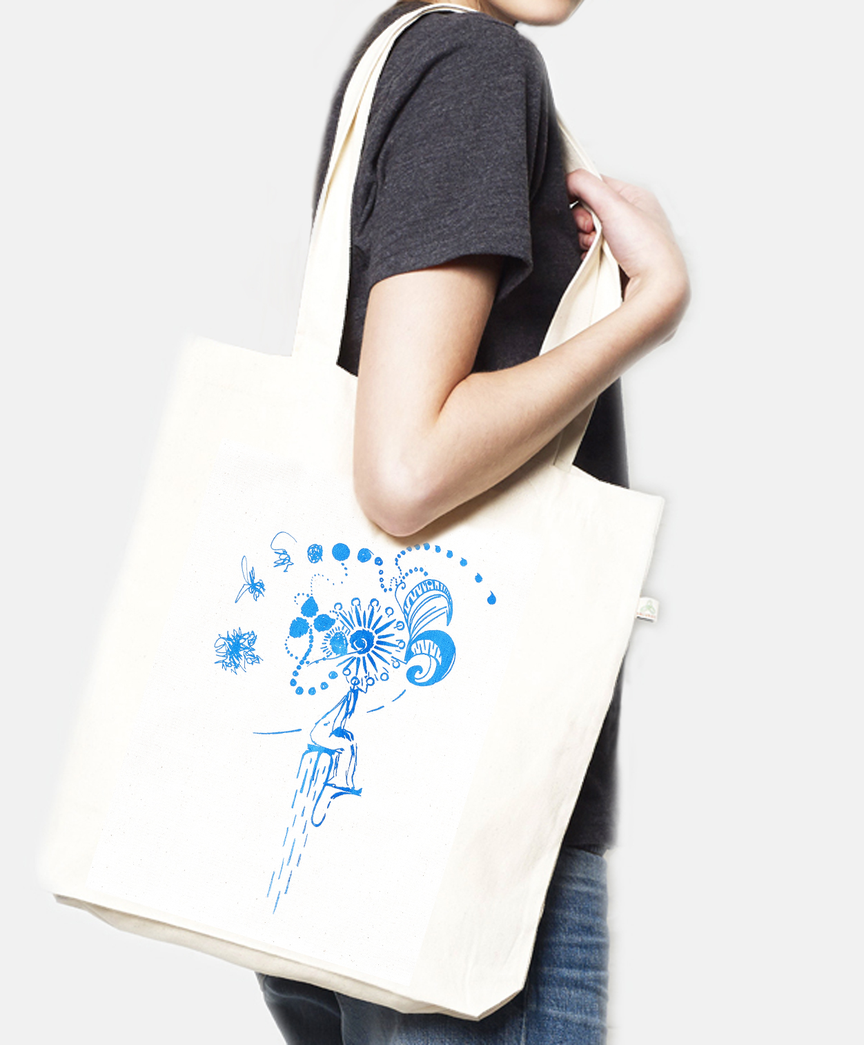 Tote bag recycled Emotions natural, Laeti-Berlin - fair trade