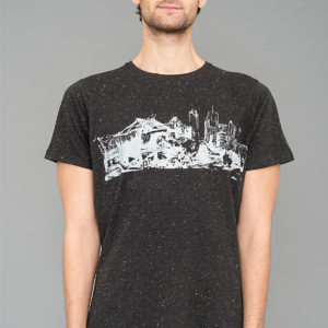 T-shirt Potsdamer Platz Speckled Black Laeti-Berlin