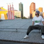 T-Shirt Potsdamer Platz white Tencel Green print Man - Kulturforum