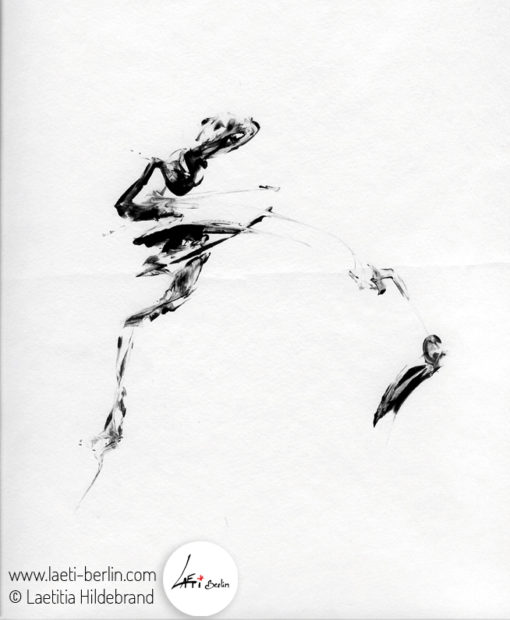 Danseur Veloute, monotype-engraving 2010, Laetitia Hildebrand