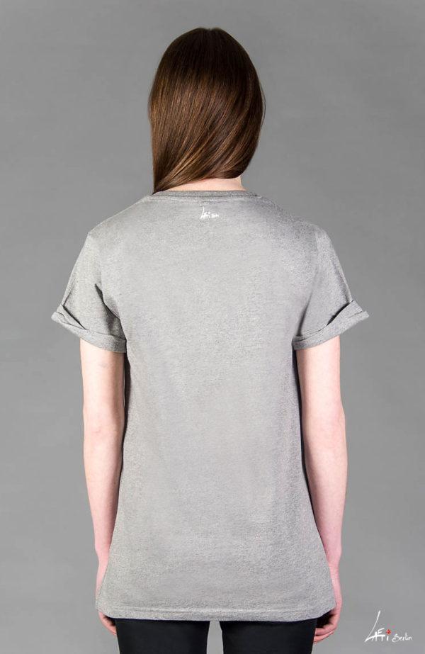 Back- T-shirt Rolled Sleeve, Mel. grey- Unisex