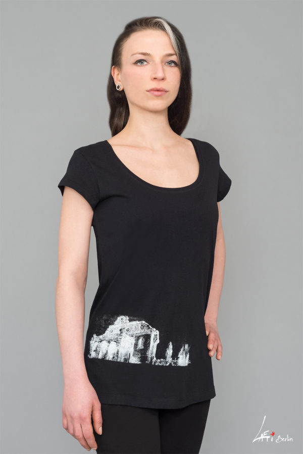 T-shirt long Black- Woman - Anhalter Bahnhof