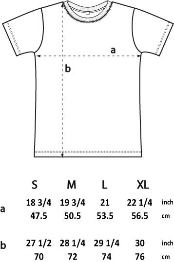 T-shirt dimensions-ep03, Man