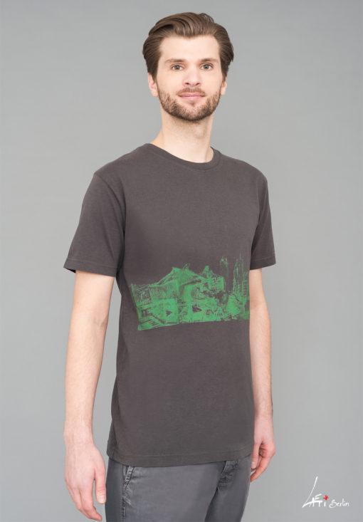 T-shirt Potsdamer Platz Vintage charcoal - Green print Man