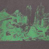 Zoom pattern- T-shirt Potsdamer Platz Vintage charcoal- Green print Man