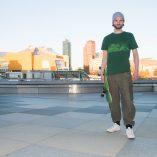 T-shirt Potsdamer Platz Vintage green- Green print Man -skaters