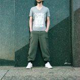 T-shirt Alliage Symetrie Melange grey V-Neck Man