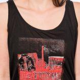 Top Tencel Black-Cuvrystr.-Red on white print- Woman