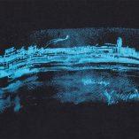 zoom pattern-T-shirt Tempelhofer Park Black- Cyan print Man