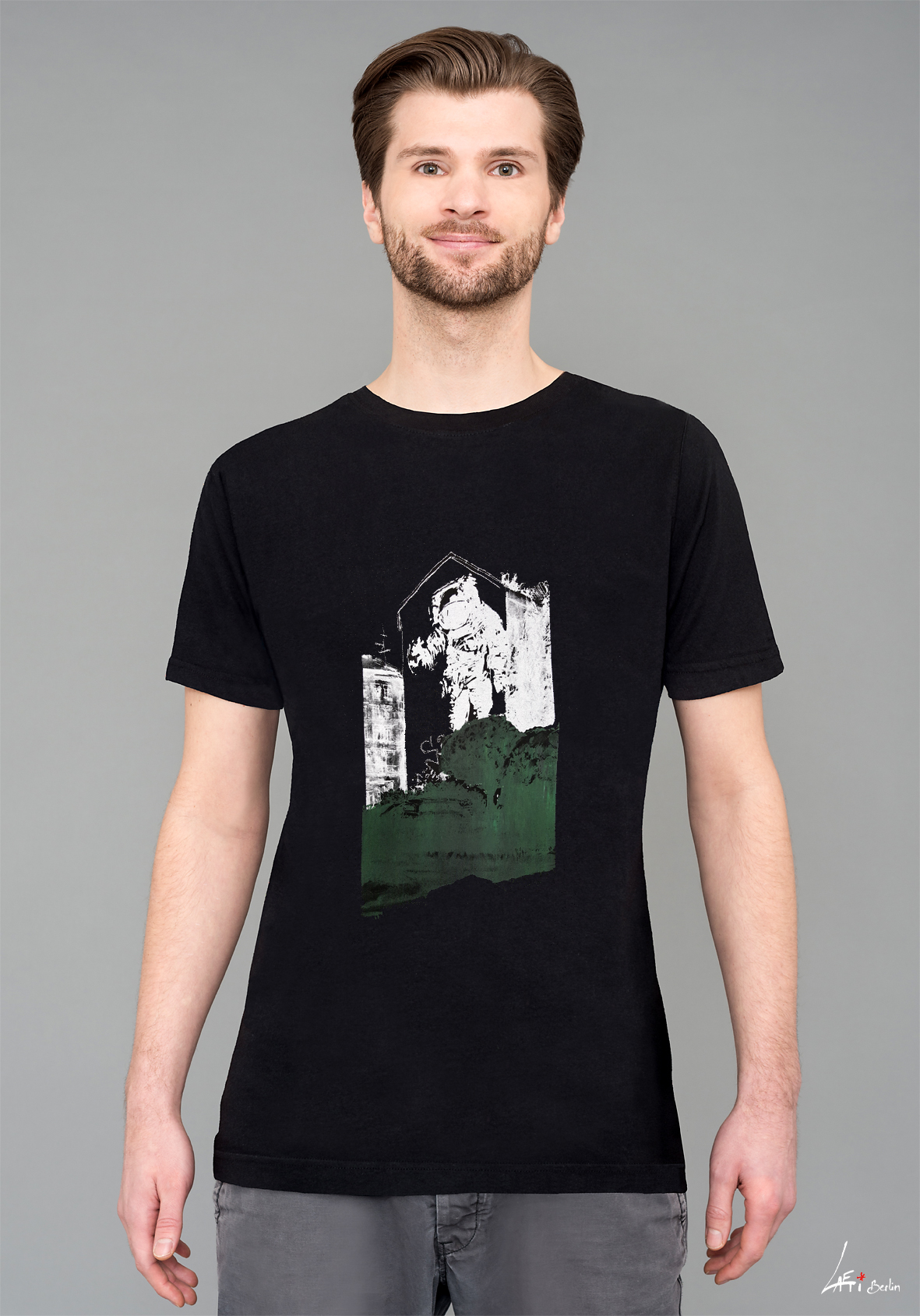 T-shirt Black - Man - Astronaut/Kosmonaut