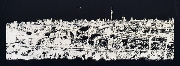 Print Panorama Berlin - Klunkerkranich White - black t-shirt