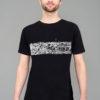 T-shirt Panorama Berlin - Klunkerkranich Black White print Man