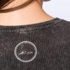 Danseur velouté -t-shirt Acid Black -DETAIL back- signature label