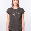 Danseur velouté -t-shirt Acid Black - face