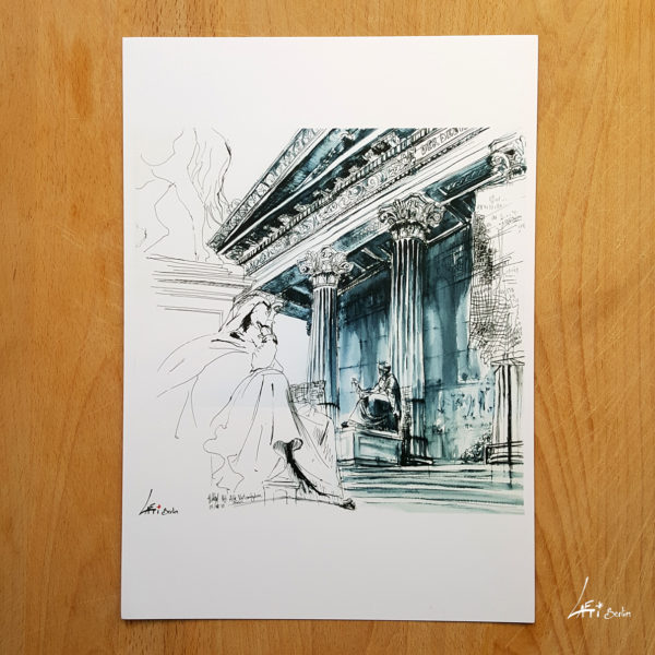 Alte Nationalgalerie-poster-A4-urbansketche-Berlin-print-signed-and-limited