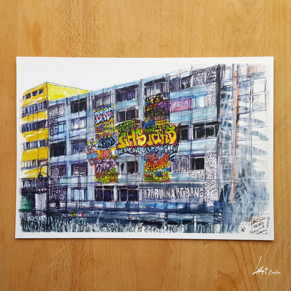 The Haus- Poster A4 - urbansketch of Berlin - print signed and limited