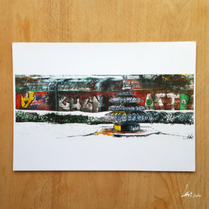 Ernst-Thälmann-Denkmal Poster A4 - urbansketch of Berlin - print signed and limited-graffitis