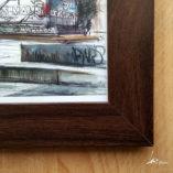 Zoom frame dark woood-Ernst Thälmann Denkmal- poster A4