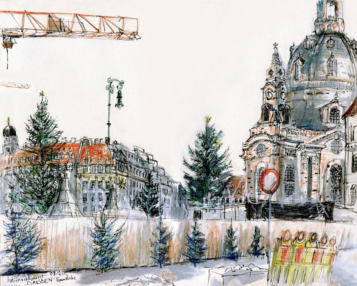 08.12.2017-Weihnachtsmarkt- Frauenkirche (Dresden, Altstadt)