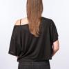 BACK-T-shirt Tencel -BLACK- Woman