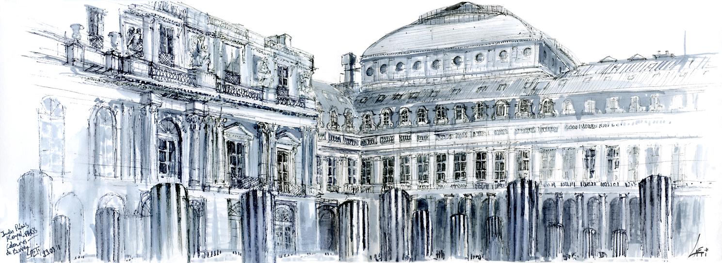 23.03.18- Colonnes de Buren, Palais Royal – Comédie Française (Paris, Fr.)